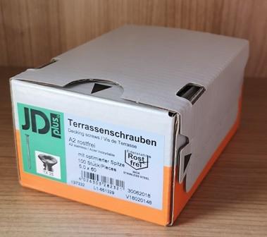 V2A Terrassenschrauben 5 x 60 mm (Inhalt 100 Stück)