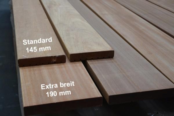 Bangkirai Terrassendiele 27x190mm extra breit